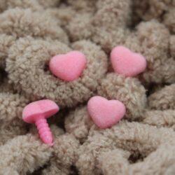 Носики безопасности бархатные Сердце