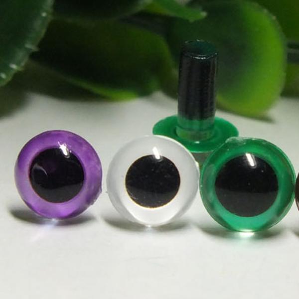 Глазки цветные винтовые 6 мм