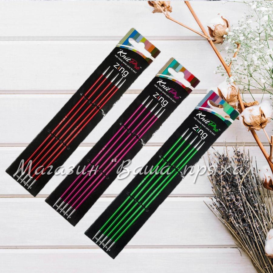 Спицы чулочные KnitPro Zing 15 см