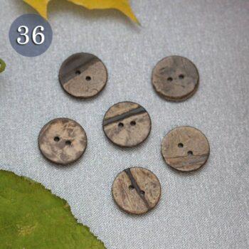 Пуговица №36 деревянная с потертостями