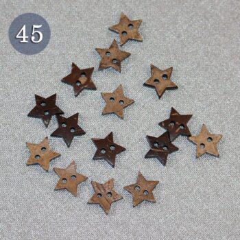 Пуговица №45 Звездочка 15 мм