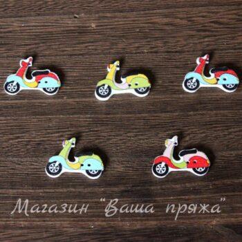 Пуговица деревянная Мотоцикл