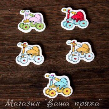 Пуговица деревянная Велосипед